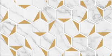 Декор Marble Gold белый